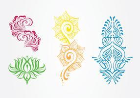 Henna-Kunst-Vektor-Pack vektor