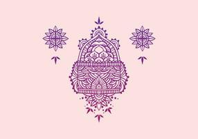 Henna-Kunst-Vektor-Illustration vektor