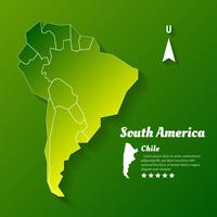 Sydamerika Map Infographic Template Jigsaw Concept Banner vektor