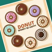 donuts ilustration vektor