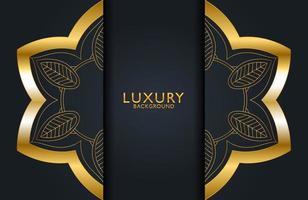 luxuriöser dekorativer Mandala-Designhintergrund in Goldfarbe. Grafikdesignelement für Einladung, Abdeckung, Hintergrund. vektor