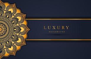 lyxig guld mandala utsmyckad bakgrund för bröllopsinbjudan, bokomslag. arabesk islamisk bakgrund vektor
