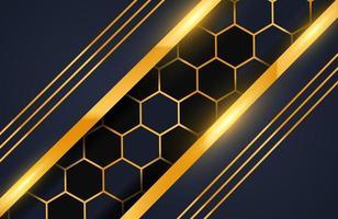 geometrischer Luxusgoldmetallhintergrund. Grafikdesignelement für Einladung, Abdeckung, Hintergrund. vektor
