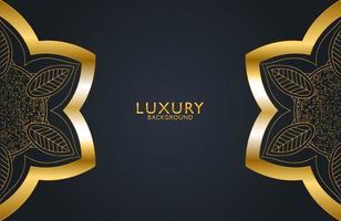 luxuriöser dekorativer Mandala-Designhintergrund in Goldfarbe. Grafikdesignelement für Einladung, Abdeckung, Hintergrund. elegante Dekoration vektor