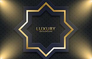 geometrischer Hintergrund des Luxusgoldmetalls. Grafikdesignelement für Einladung, Abdeckung, Hintergrund. vektor