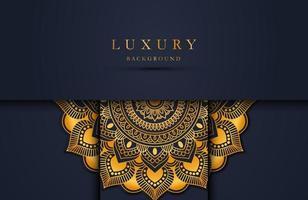 Luxus Gold Mandala verzierten Hintergrund für Hochzeitseinladung, Buchcover. arabischer arabischer Hintergrund vektor