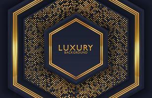 geometrischer Luxusgoldmetallhintergrund. Grafikdesignelement für Einladung, Abdeckung, Hintergrund. elegante Dekoration vektor