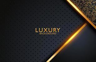 abstrakte realistische Luxusdekoration mit goldenem Punktmuster strukturiert. 3D-Hintergrund, Hochzeitseinladungsentwurfsabdeckungslayoutschablone mit Kopienraum. vektor