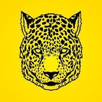 Gepard Leopard Gesicht Vorderansicht vektor