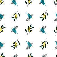 botanisk sömlös, med abstrakt form för tryck och textil, mönster mall vektor