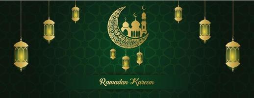 Ramadan Kareem Banner Hintergrundvorlage vektor