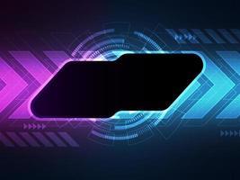abstrakte Technologie. Hi-Tech-Hintergrund-Banner-Vorlage mit Kopierraum vektor