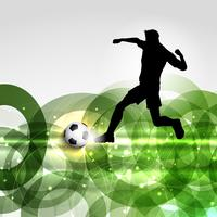 Fußball- oder Fußballspielerhintergrund vektor