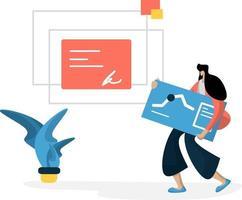 administration management planering online affärsidé marknadsföringskoncept vektor