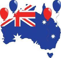 australien karta flagga vektor