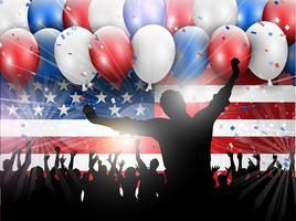 Självständighetsdagen 4 juli festbakgrund 0406 vektor