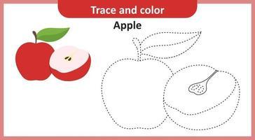 Spur und Farbe Apfel vektor