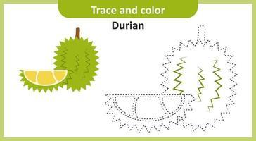 Spur und Farbe Durian vektor