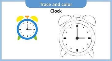 Spur und Farbe Uhr vektor