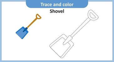 Spuren- und Farbschaufel vektor