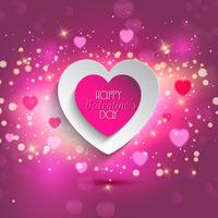 Valentines Herz Hintergrund vektor