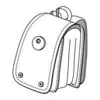 Vektor Hand gezeichnet Rucksack Symbol. Vektor-Umrissillustration des Rucksacks auf weißem Hintergrund. zurück zur Schule