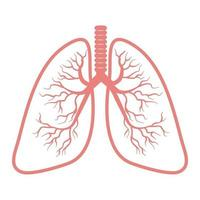 lungor ikon isolerad på vit bakgrund vektor