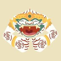 Hanuman schlafender thailändischer Zeichenvektor vektor