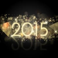 Starry New Year Hintergrund vektor