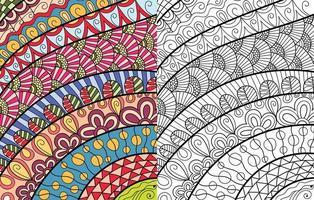 Doodle Zentangle Malbuch Seite für Erwachsene und Kinder. weiß und schwarz rund dekorativ. vektor