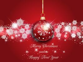 Jul och nyår bakgrund vektor