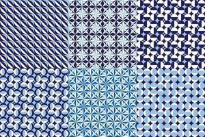 abstrakt geometriskt grafiskt mönster i blå färgvektorbakgrund för design vektor