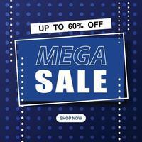 Mega Sale Web Banner Design Illustration Vektor