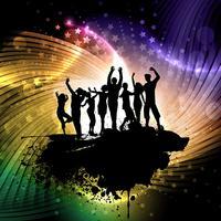 Grunge Party Menschen Hintergrund vektor