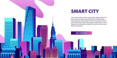 begreppet smart stadsillustration
