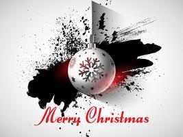 Grunge Weihnachtskugelhintergrund