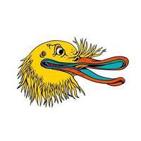 aggressive Kiwi-Vogel-Graffiti-Farbe vektor