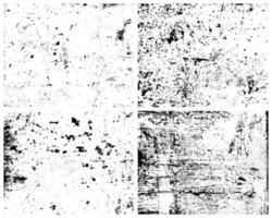 Grunge Texturen Vektor Pack. Körnung Textur, raue Textur, Vintage Textur. Distressed-Effekt. Not Textur.