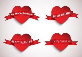 Herzen mit Bändern vektor