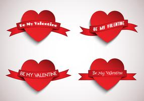 Hjärtan med band vektor