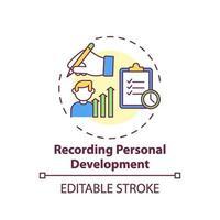 inspelning ikon för personlig utvecklingskoncept vektor
