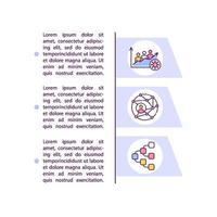 Erhöhte Übertragbarkeitskonzeptzeilensymbole mit Text vektor