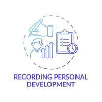 inspelning personlig utveckling blå gradient koncept ikon vektor