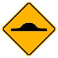 Warnung Verkehrszeichen Geschwindigkeitsbuckel auf weißem Hintergrund vektor