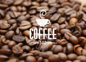 Kaffeböna bakgrund vektor