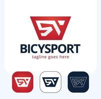 abstrakt cykel ikon eller vektor logo design set
