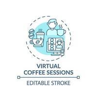 Konzept-Symbol für virtuelle Kaffeesitzungen vektor