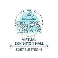 virtuell utställning hall koncept ikon vektor