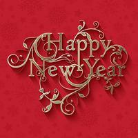 Dekorativer Hintergrund des neuen Jahres