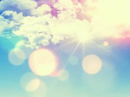 Retro Himmel Hintergrund vektor